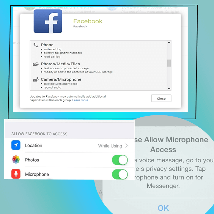 Facebook Listening Conversation using microphone