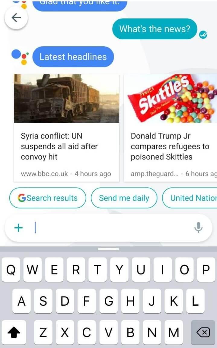 Google Allo chat assitant