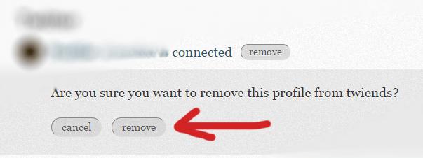 Remove Tweinds