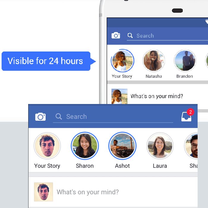 Facebook Snapchat Stories