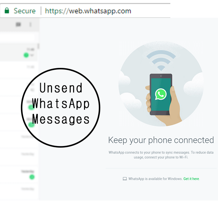 Unsend whatsapp messages text