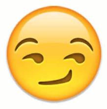 Smirking face emoji snapchat