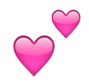 Two pink hearts emoji