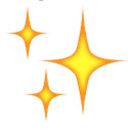 golden sparkles emoji snapchat