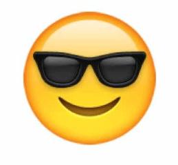 sunglasses emoji snapchat