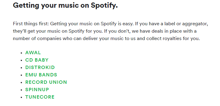 get music on spotify