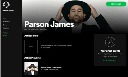 spotify profile