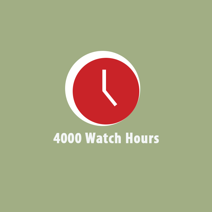 4000 watch hours Youtube
