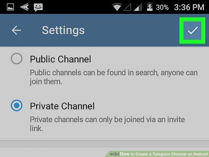 Telegram channel privacy (Photo credits: WikiHow)