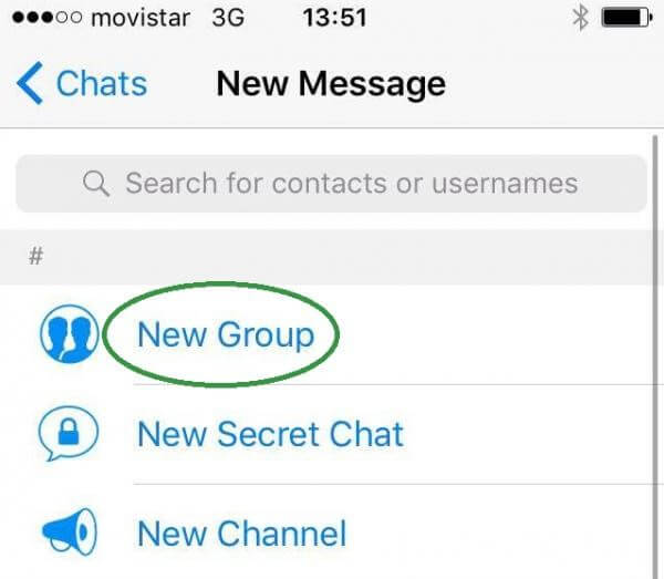 create new group telegram