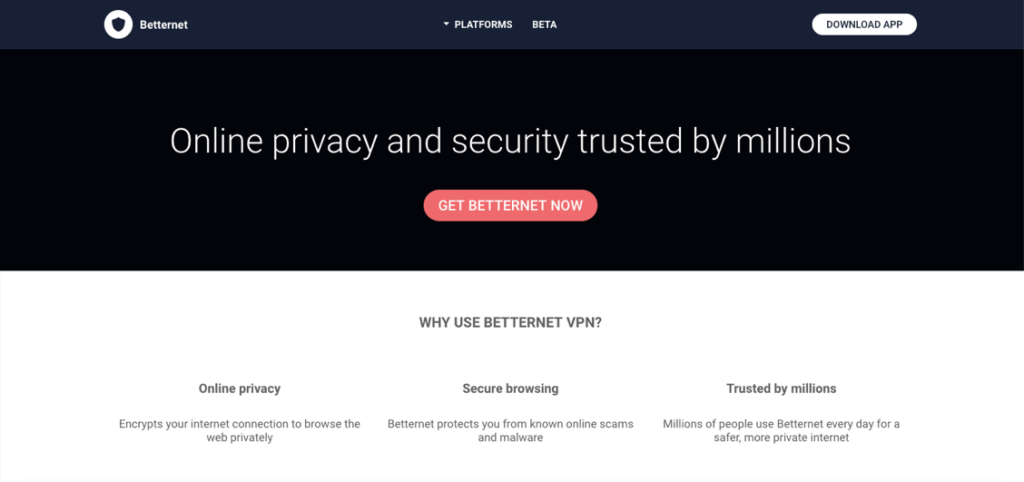 betternet vpn services