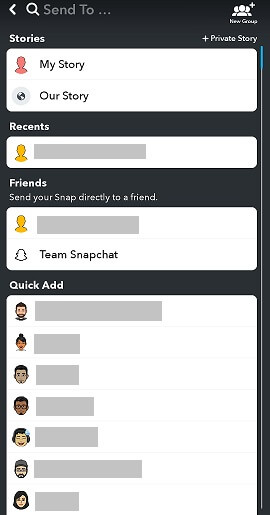 snapchat profile timeline