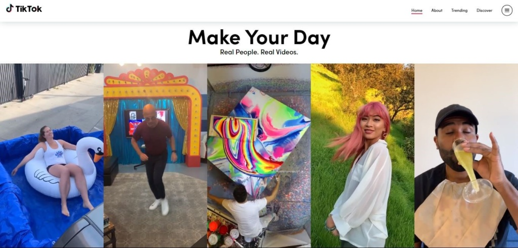 Make your day feature on Tiktok