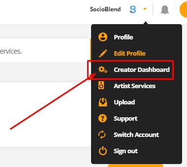 Creator Dashboard (Audiomack)