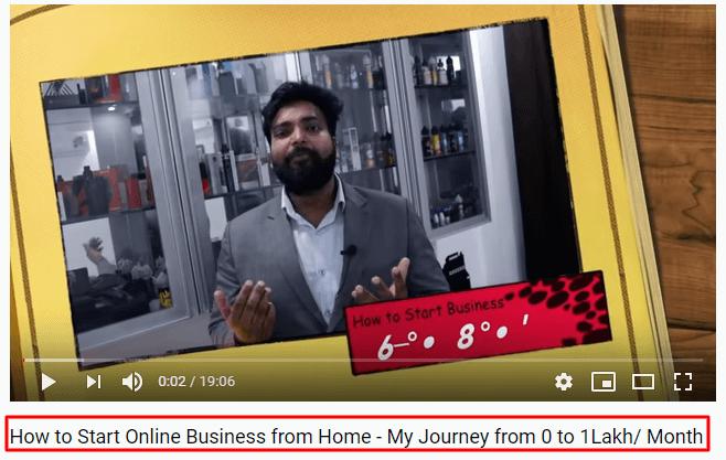 Optimize Video Title