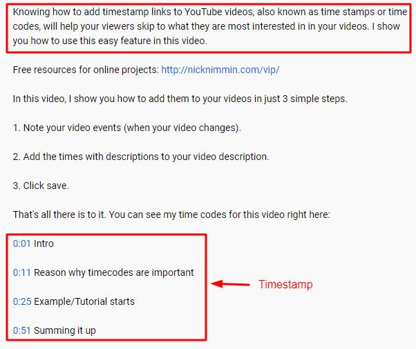Optimize Video Description