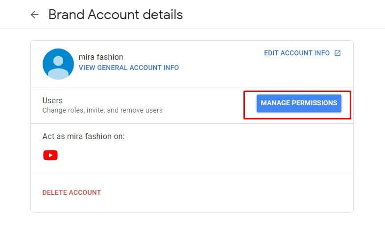 brand account details