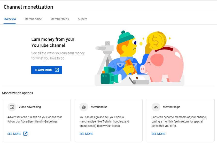 Youtube Channel Monetization: Ways to make money online