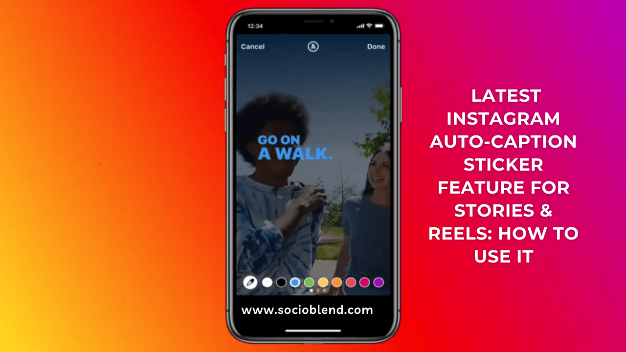 Latest Instagram Auto-Caption Stickers for Reels & stories