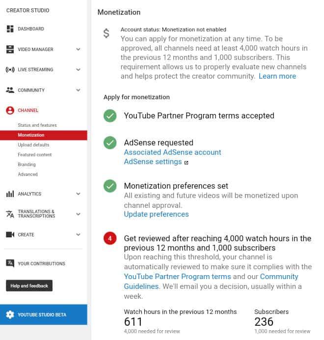 Youtube Partner Program Criteria