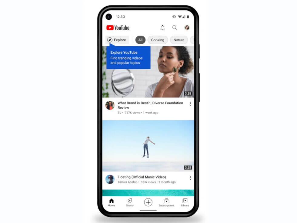 Youtube Shorts app on Homescreen