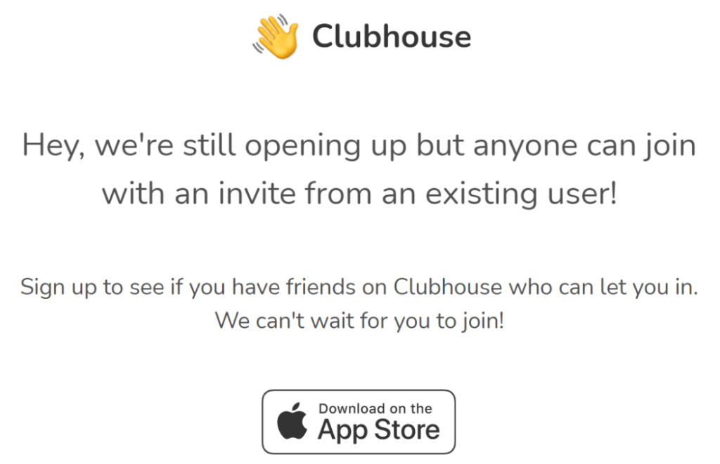 How to get an invite from clubhouse