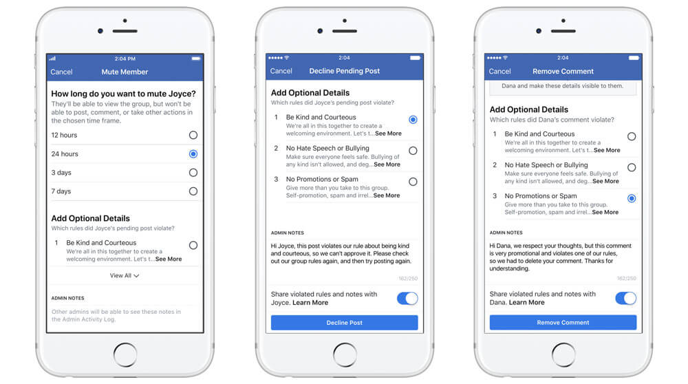 Facebook Group latest features