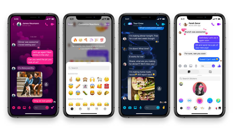 Facebook Messenger New Chat themes