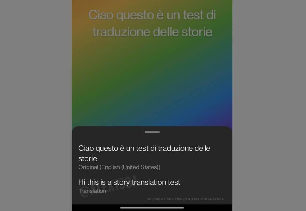 Instagram Stories Translation Feature
