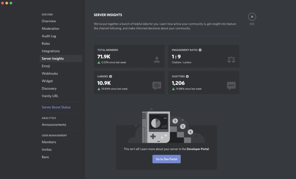 Discord Server Insights