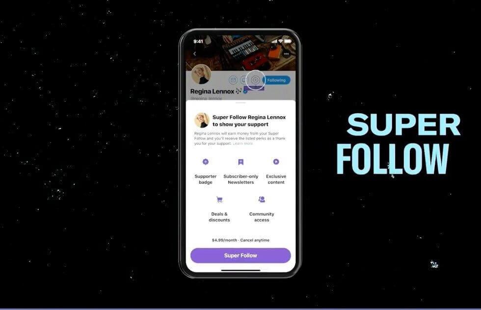 Twitter Super Follow Feature