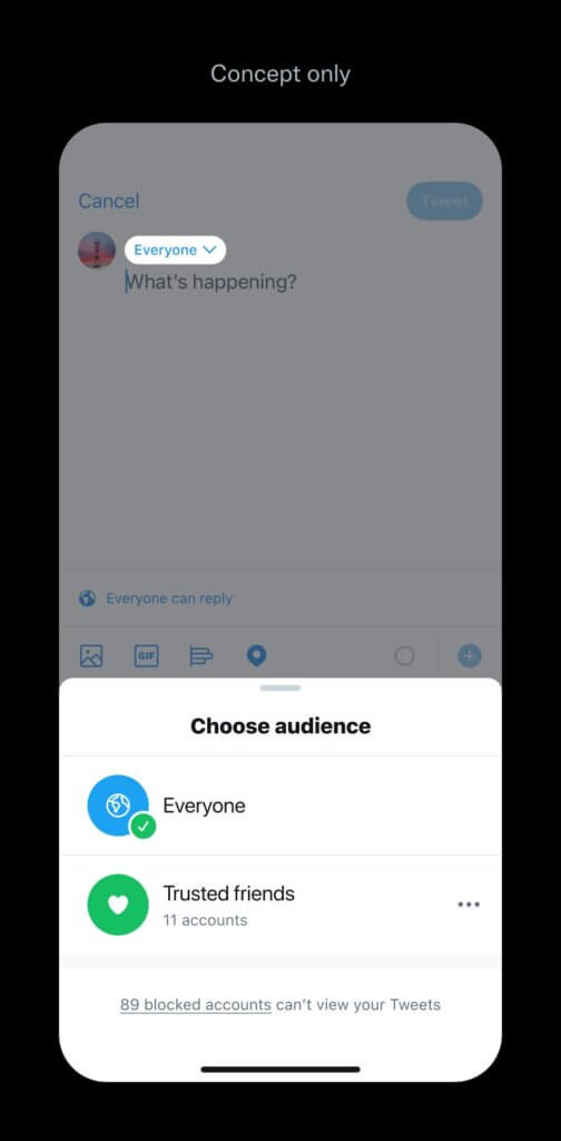 How twitter trusted friends feature will work